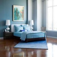 blauwe slaapkamer inrichten