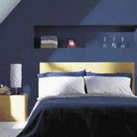 Een blauwe slaapkamer inrichten