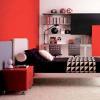 een rode slaapkamer inrichten, Meubels Ideeën